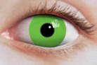 Lentilles de contact oeil vert fluo