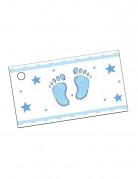 Vous aimerez aussi : 10 Étiquettes en papier pieds bleus 9 x 2,5 cm