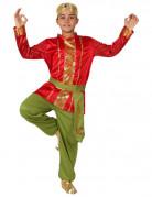 Déguisement indien rouge et vert garçon