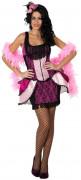 Déguisement danseuse de cabaret rose femme