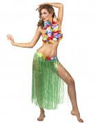 Jupe hawaïenne longue verte adulte