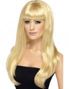 Vous aimerez aussi : Perruque longue blonde platine à frange femme