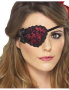Cache-oeil rouge dentelle femme