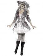 Déguisement fantôme pirate effet satiné femme Halloween