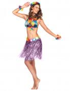 Jupe hawaïenne courte violette adulte