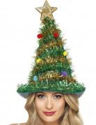 Chapeau sapin décoré adulte Noël