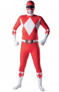 Déguisement seconde peau rouge Power Rangers™ adulte