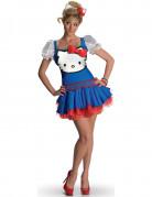 Déguisement Hello Kitty™ bleu adulte