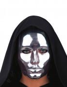 Masque visage argent chromé adulte