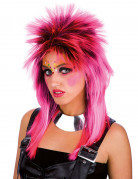 Perruque punk rose adulte