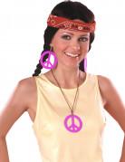 Boucles d'oreilles et pendentif Hippie rose