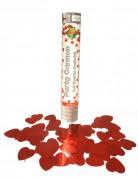 Canon à confettis coeurs rouges 30 cm