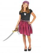 Déguisement pirate rose à paillettes fille