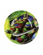 8 Assiettes Tortues ninja™ 18 cm