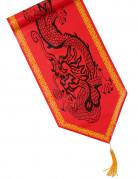 Chemin de table en plastique dragon rouge 28 cm x 1,8 m