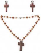 Kit collier et boucles d'oreilles religieuse femme