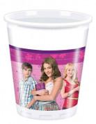 8 Gobelets plastique Violetta™ 20 cl