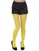 Collants opaques jaunes adulte