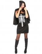 Déguisement squelette avec cape femme