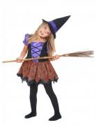 Déguisement violet sorcière fille