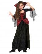 Déguisement rouge et noir vampire fille