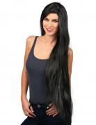 Perruque très longue noire femme