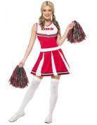 Vous aimerez aussi : Déguisement pompom girl blanc et rouge femme
