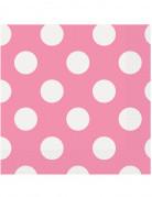 16 Serviettes en papier roses à pois blancs 33 x 33 cm