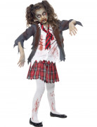 Déguisement zombie écolière fille Halloween
