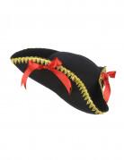 Chapeau tricorne noeuds rouges femme
