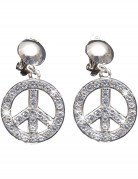 Boucles d'oreilles peace and love adulte