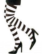 Collants rayés noir et blanc adulte