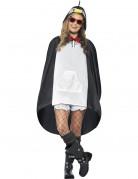 Poncho pingouin adulte