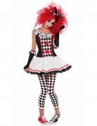 Déguisement clown arlequin adolescente Halloween