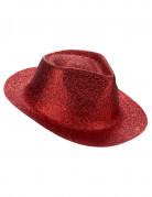Chapeau pailleté rouge adulte