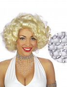 Collier ras du cou perles argentées femme