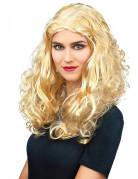 Perruque frisée blonde femme