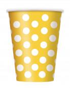 6 Gobelets jaunes à bois blancs