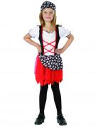 Déguisement pirate blanc et rouge fille