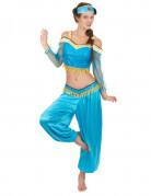 Déguisement danseuse orientale bleue et or femme