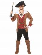 Déguisement pirate marron et noir homme