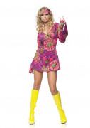 Déguisement hippie motif fleur femme