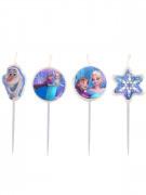 4 Bougies d'anniversaire La Reine des neiges™ 9 cm
