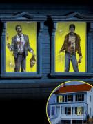 2 Décorations pour fenêtres Zombies