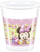 8 Gobelets en plastique Bébé Minnie ™20 cl