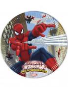 8 Assiettes en carton Spiderman Web-Warriors™ 23 cm