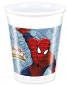 8 Gobelets en plastique Spiderman™ 200 ml