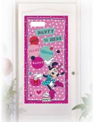 Décoration de porte rose Minnie™ 76 x 152 cm