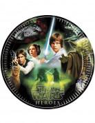 8 Assiettes en carton Star Wars™ 23 cm