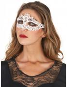 Masque dentellé blanc femme